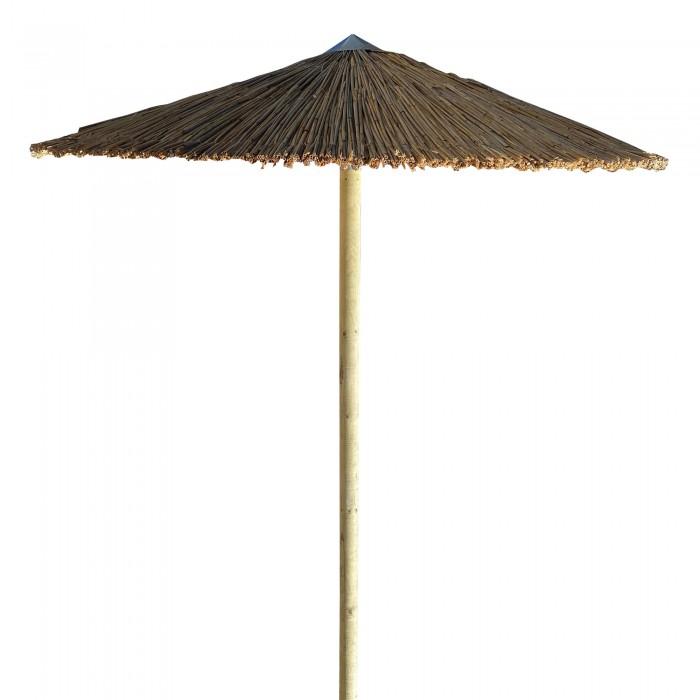 Ομπρέλα ψάθινη παραλίας με κολάρο επαγγελματική