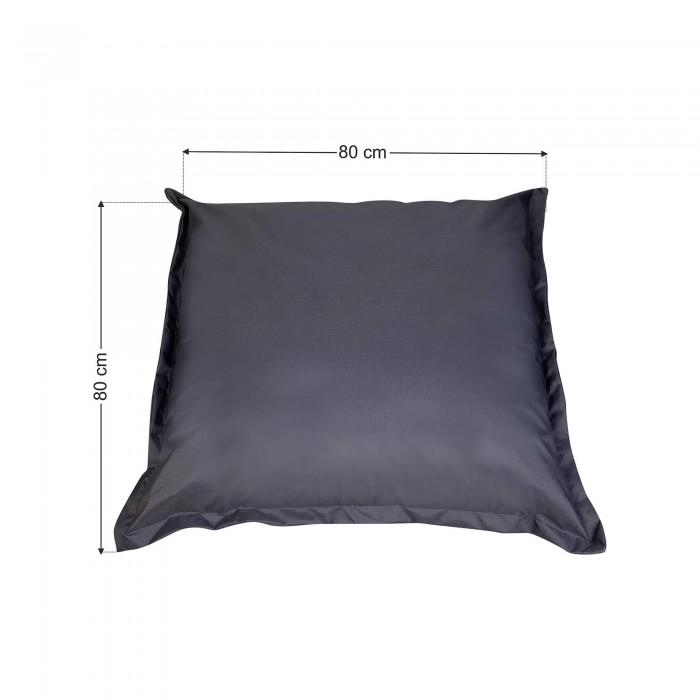 Πουφ Μαξιλάρα Γκρί Υφασμάτινη<br> 80x80x12cm