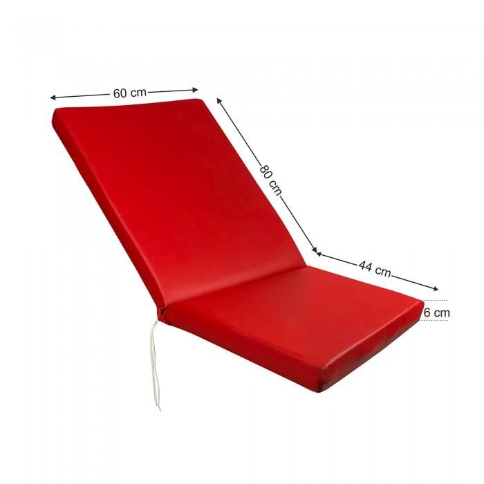 Στρώμα καρέκλας 6cm δερματίνη - κόκκινο της ferrari
