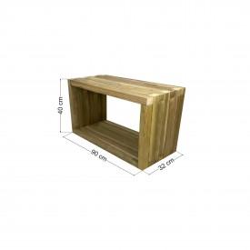 Τραπέζι παραλίας / κήπου φαγητού 90x32x40cm