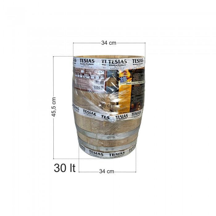 Βαρέλι κρασιού ξύλινο - καστανιά - 30lt