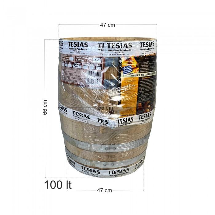 Βαρέλι κρασιού ξύλινο - καστανιάς - 100lt